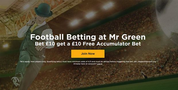 mr green New Free Bet No Deposit