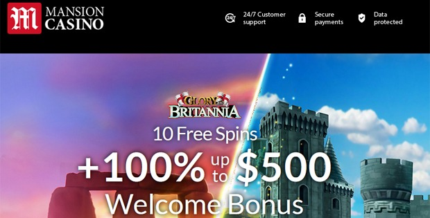 Mansion Casino No Deposit Bonus