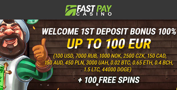 fast pay casino free bet