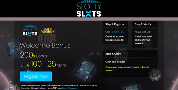slotty slots casino free bet