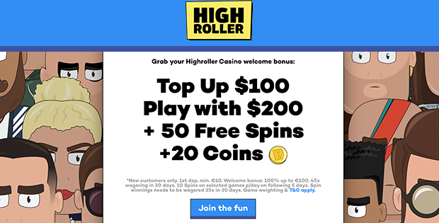 highroller casino free bet